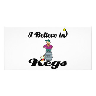 i believe in kegs photo greeting card