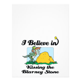 i believe in kissing the blarney stone 21.5 cm x 28 cm flyer