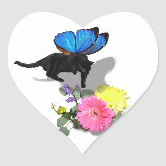 I believe in kitty fairies insect animals heart sticker