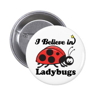 i believe in ladybugs pinback button