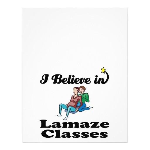 i believe in lamaze classes full color flyer