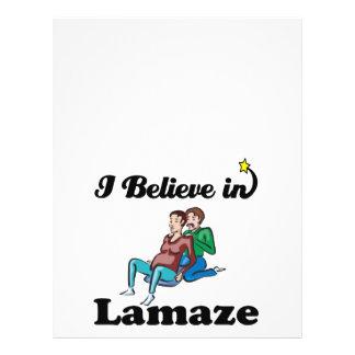 i believe in lamaze custom flyer