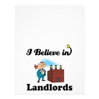 i believe in landlords 21.5 cm x 28 cm flyer