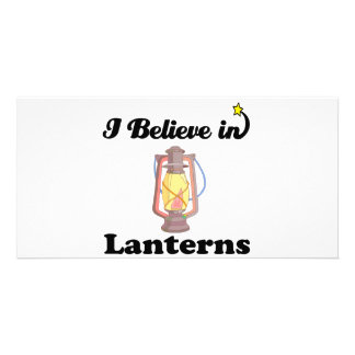 i believe in lanterns personalized photo card