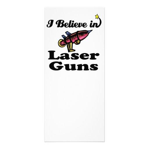 i believe in laser guns full color rack card