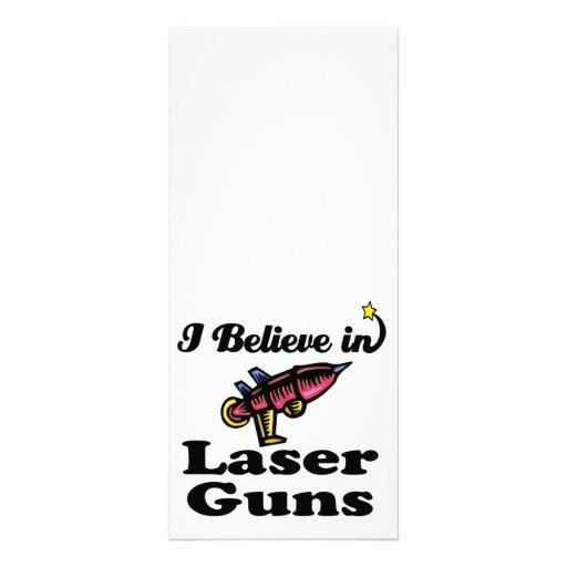 i believe in laser guns custom rack card