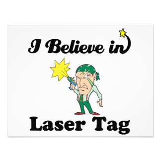 i believe in laser tag personalized invites