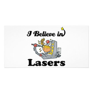 i believe in lasers photo card template