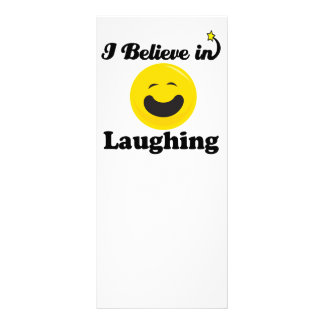 i believe in laughing full color rack card