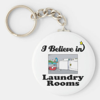 i believe in laundry rooms basic round button key ring