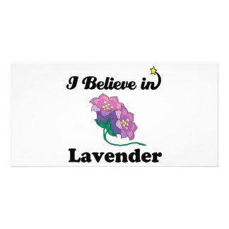i believe in lavender photo card template