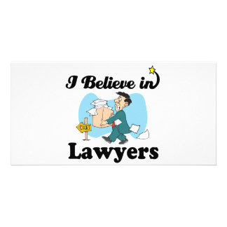 i believe in lawyers customised photo card