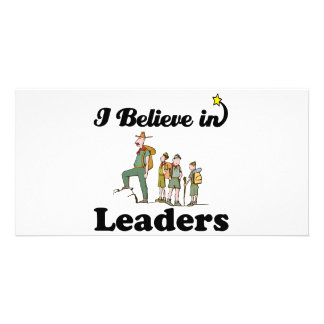 i believe in leaders personalised photo card