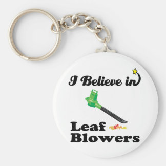 i believe in leaf blowers basic round button key ring