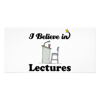 i believe in lectures custom photo card