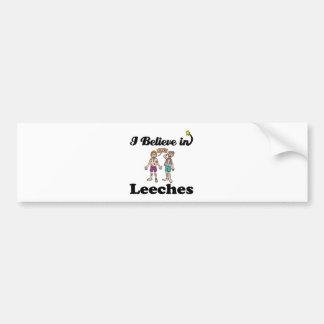 i believe in leeches bumper sticker