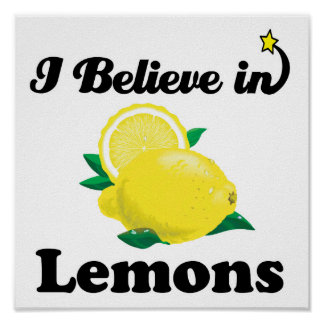 i believe in lemons poster