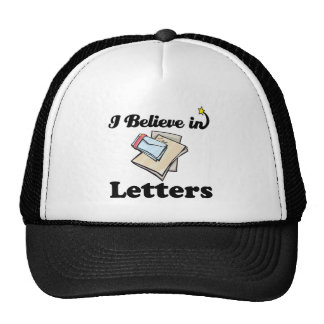 i believe in letters hat
