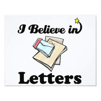 i believe in letters 11 cm x 14 cm invitation card