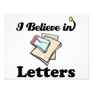 i believe in letters invitations