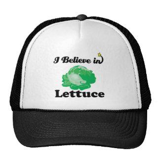 i believe in lettuce mesh hats