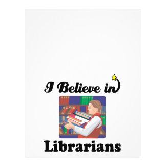 i believe in librarians 21.5 cm x 28 cm flyer