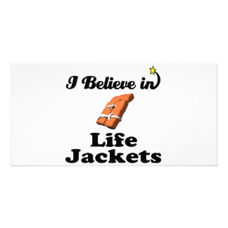 i believe in life jackets photo cards