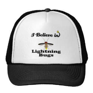 i believe in lightning bugs cap