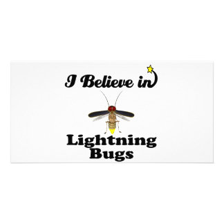 i believe in lightning bugs photo card template