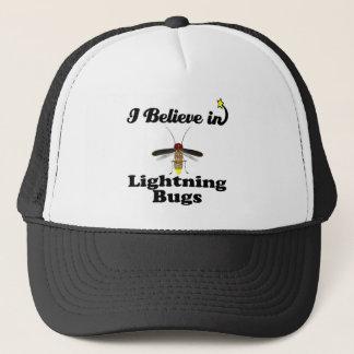 i believe in lightning bugs trucker hat