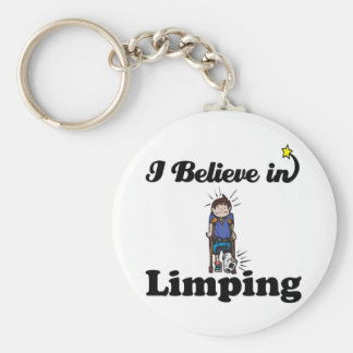 i believe in limping basic round button key ring