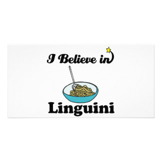 i believe in linguini photo greeting card