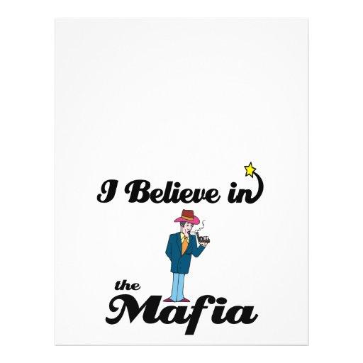i believe in mafia flyer design