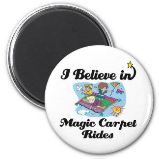 i believe in magic carpet rides 6 cm round magnet