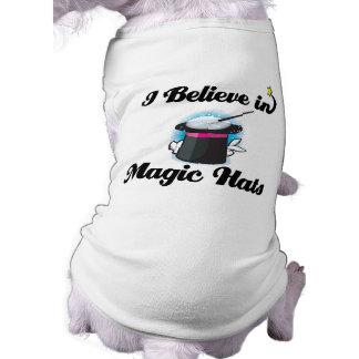 i believe in magic hats sleeveless dog shirt
