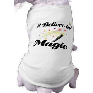 i believe in magic sleeveless dog shirt