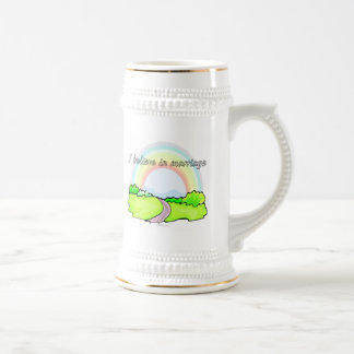 I believe in marriage beer stein