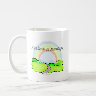 I believe in marriage coffee mug