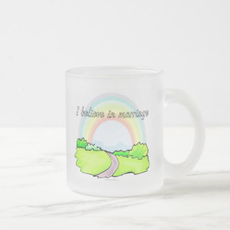 I believe in marriage frosted glass coffee mug