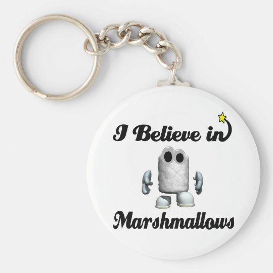 i believe in marshmallows basic round button key ring