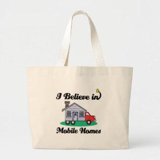 i believe in mobile homes jumbo tote bag