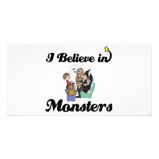 i believe in monsters customised photo card