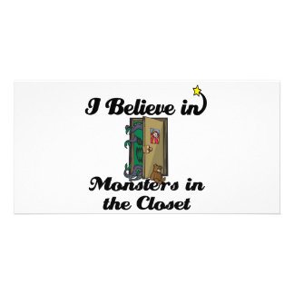 i believe in monsters in the closet custom photo card