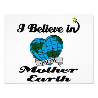 i believe in mother earth invitation