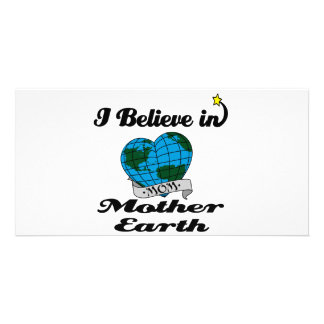 i believe in mother earth photo card template