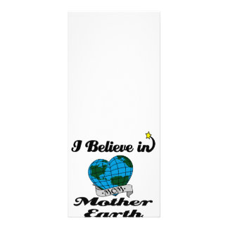 i believe in mother earth rack card