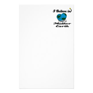 i believe in mother earth stationery