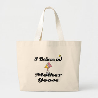 i believe in mother goose tote bag