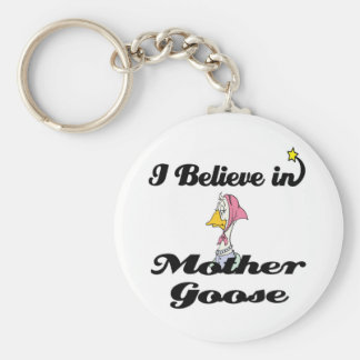 i believe in mother goose key ring