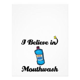 i believe in mouthwash 21.5 cm x 28 cm flyer